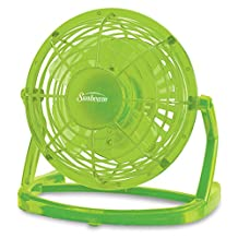 Sunbeam 4-Inch Plastic USB Fan, Macaw Green SNF0411GR-CN