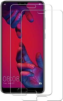 POOPHUNS 2-Unidades Huawei P20 Pro Cristal Templado, Protector de ...