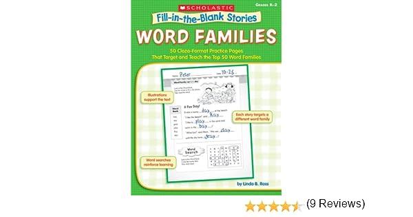 Amazon.com: Word Families: 50 Cloze-Format Practice Pages That ...