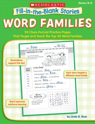 Amazon.com: Word Families: 50 Cloze-Format Practice Pages That ...