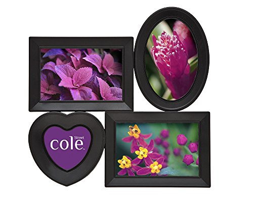 4 Opening in Heart Collage Black Frame