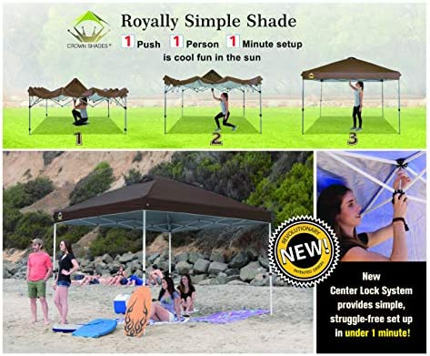 CROWN SHADES 10×10 Pop up Canopy Outside Canopy
