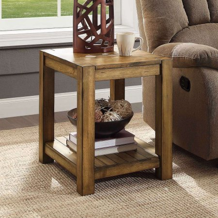 Better Homes & Gardens Bryant End Table, Rustic Maple Brown ()