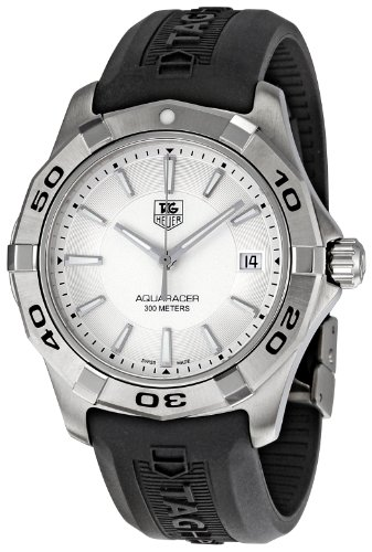 Aquaracer Silver Dial - TAG Heuer Men's WAP1111.FT6029 Aquaracer Silver Dial Watch