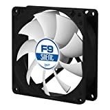 ARCTIC F9 Silent, 90 mm 3-Pin Fan with Standard Case and Higher Airflow, Quiet and Efficient Ventilation