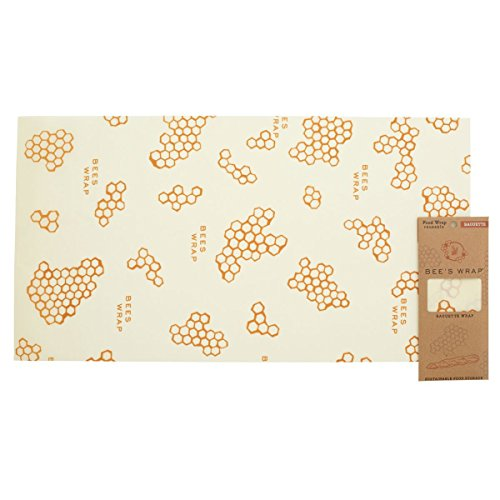 Bees Wrap Reusable Baguette Wrap, Eco Friendly, Sustainable, and Plastic Free Bread Keeper & Food Storage - 14 x 26