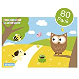 Disposable Placemats Owl Design Extra Adhesive Sticks to Table Kirecoo 80 Count Baby Placemat Table Mat for Infant,Baby,Toddler,Kids