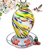 Grateful Gnome – Comedero de colibrí, 28oz, estilo de huevo, Bubblegum Swirl