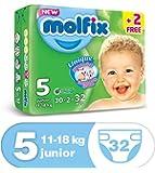 Molfix Anti Leakage Comfortable Junior Baby Diapers, 11-18 kg, 32 Count (5047421)