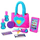 Play-Act My First Purse Pretend Play Purse Toy Set for Girls, Educational and Interactive Purse Toy Set Including Pretend Play Smart Phone(Battery not Included), Keys, Pretend Makeup Accessories