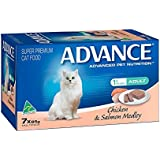 Advance Chicken and Salmon Medley Cat Food Pack, 7 Piece