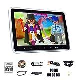 Eonon 10.1 Inch HD Digital Multimedia Monitor Super-Thin Car Headrest DVD Player, Headrest Monitors with HDMI Port and Remote Control USB and SD-L0299A