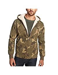 Weatherproof Vintage Men's Full Zip Sherpa Lined Fleece Hoodie