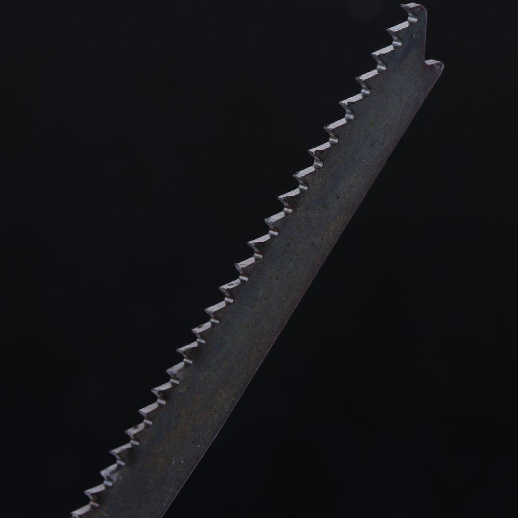 Besttse Lot de 5 lames de scie sauteuse HCS pour coupe m/étal T123X 10,2 cm