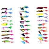 30 Spinner Super New Fishing Lure Spoons Pike Salmon Bass with Feather
