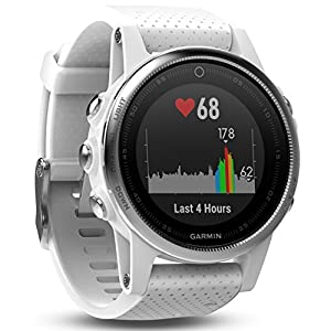 Garmin Fenix 5S – White with Carrara White Band (Renewed)