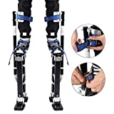 Black Professional Adjustable Drywall Plastering Stilts 24-40 inch Aluminum Alloy Painting Stilts Lifting Tools for Sheetrock Painting or Cleaning