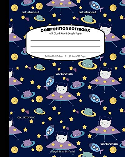 Composition Notebook 4x4 Quad Ruled Graph Paper Math