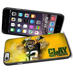 Clay Matthews Muscle Stronger Apple Smartphone iPhone 6 4.7 inch Case Cover Collector TPU Soft Black Hard Cases by runtopwell