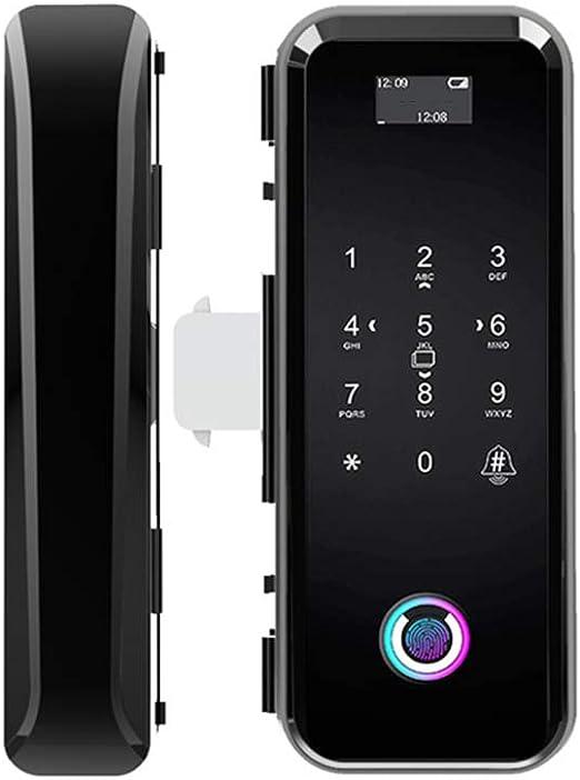 HLKYB Cerradura de Puerta de Huellas Dactilares, Cerradura de contraseña del Sensor Inteligente biométrico, Cerradura de Puerta de Vidrio electrónica Digital de Seguridad antirrobo: Amazon.es: Hogar