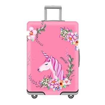06427177f Amazon.com | Youth Union Travel Luggage Cover Baggage Suitcase Protector Fit  for 18-32 Inch Luggage (XL(29-32 inch luggage), Unicorn) | Suitcases