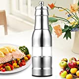 SUPOW Salt and Pepper Grinders - Stainless Steel Pepper Mills with Manual Adjustable Ceramic Grinders - Utility Shakers, Huge Capacity, Ergonomic Design