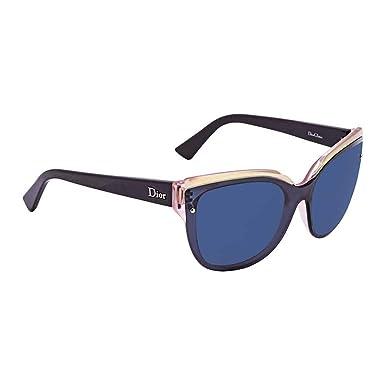 a4643a55127e Amazon.com: Dior ES9KU Blue and Pink Glisten 3 Cats Eyes Sunglasses ...