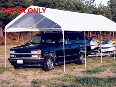 King Canopy 10 x 27 ft. Canopy Replacement Drawstring Carport Cover & Amazon.com: King Canopy 10 x 27 ft. Canopy Replacement Drawstring ...