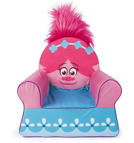DreamWorks Trolls Poppy Marshmallow Furniture Children's Upholstered Comfy Chair