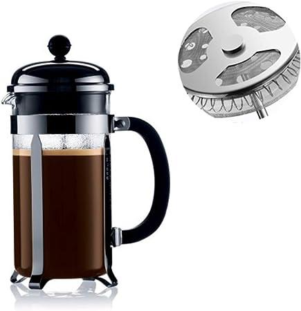 Aochol Chambord cafetera de prensa francesa, tetera, acero inoxidable de grado 304, vidrio de borosilicato resistente al calor, sin óxido, apto para lavavajillas (12 oz): Amazon.es: Hogar