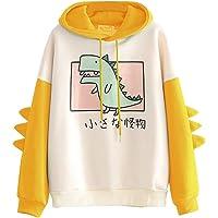 YIKEYO Sudadera Chica Adolescente con Capucha Tumblr Mujer Sudaderas Juveniles con Estampado de Kawaii Dinosaurio Casual…