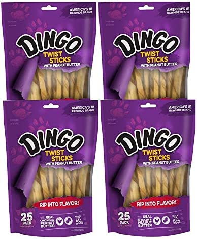 Dingo Peanut Butter Twist Sticks DN-15124
