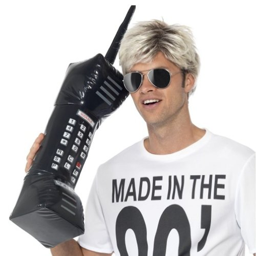 Inflatable Retro Mobile Phone Costume Accessory ()