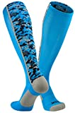 TCK Sports Digital Camo Over The Calf Socks, Electric Blue, Large