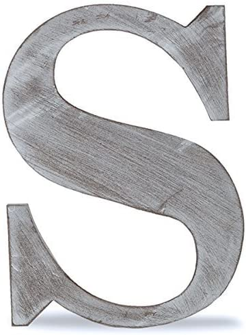 Charcoal Grey The Lucky Clover Trading S Wood Block Letter 8 L
