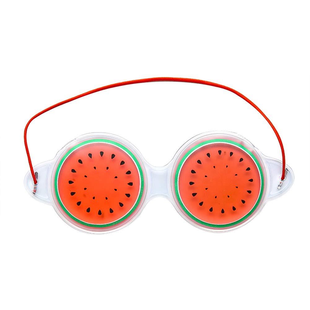 Lubier Creative Fruit Travel Shading Mascarilla Natural para Ojos Protección de Ojos con Siesta Tanto Caliente como fría Size 19cm*7cm (Orange)
