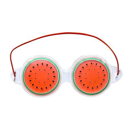 Lubier Creative Fruit Travel Shading Mascarilla Natural para Ojos Protecci/ón de Ojos con Siesta Tanto Caliente como fr/ía Size 19cm*7cm Orange