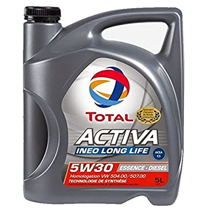 TOTAL Huile Moteur Activa Ineo Long Life 5W30 Mixte 5 Litres