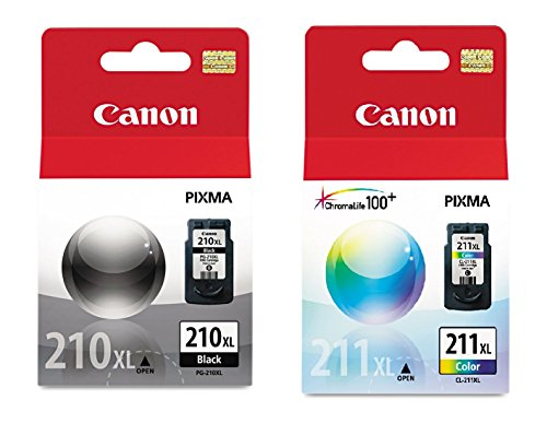 - Canon PG-210XL/CL-211XL Extra High Yield Black and Color Ink Cartridge Set