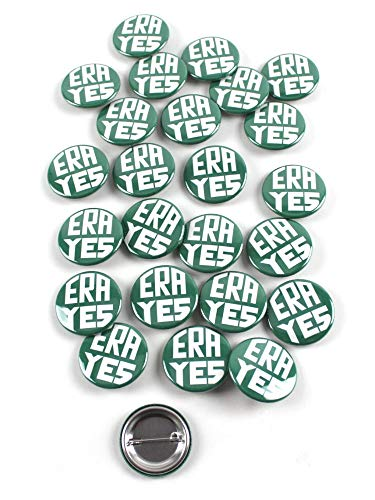 ERA YES - Equal Rights Amendment Vintage Design Pinback Buttons - 1.5 Inch Round - 25 Pack