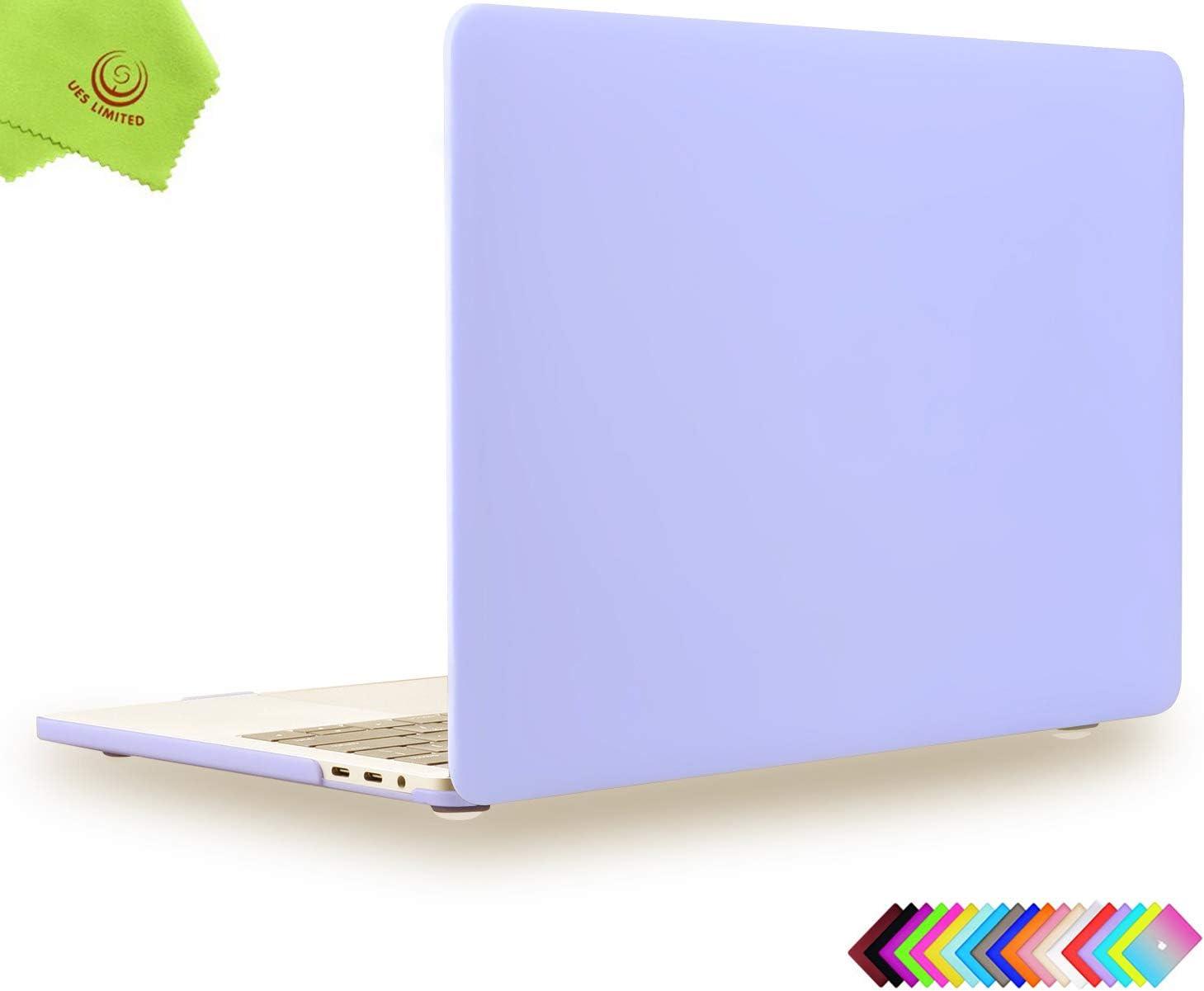 UESWILL MacBook Pro 13 inch Case 2019 2018 2017 2016, Smooth Matte Hard Case for MacBook Pro 13 inch (USB-C), with/Without Touch Bar, Model A2159/A1989/A1706/A1708, Serenity Blue