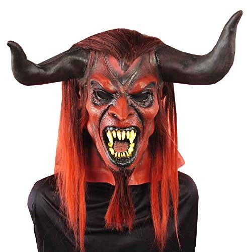 Forum Novelties Men's Straight From Hell Mask, Red, One Size