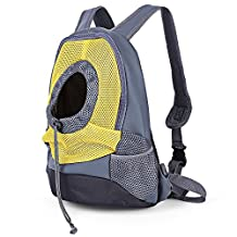 Nylon Pet Dog Travel Carrier Bag Front Mesh Head Out Puppy Double Shoulder Pack