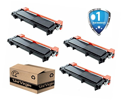 Compatible Brother TN660 toner cartridge by UniVirgin Brand– High Yield Black Color, 4 Pack