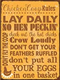 Chicken Coop Rules Metal Sign, Farm Living, Eggs, Hens, Roosters, Country Living, Rustic Decor