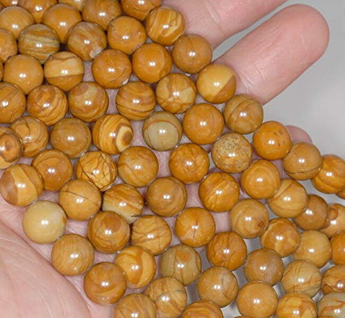 12MM Hickory Brown Picture Jasper Gemstone Round Loose Beads 15.5