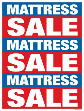 (Furniture Mattress Sale Window Sale Sign Posters Retail Business Store Signs (P40 - 25