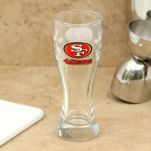 San Francisco 49ers Shot Glass - Mini Pilsner (Glass 49ers Francisco San Sports)