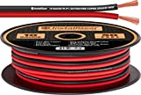 InstallGear 10 Gauge Speaker Wire - 99.9% Oxygen-Free Copper (OFC) - Red/Black (50-feet)