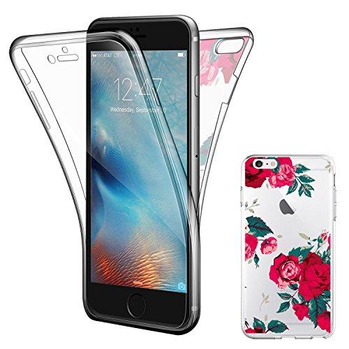 """Coque Etui iPhone 6 Plus , ivencase iPhone 6 Plus Silicone Gel Case Avant et Arrière Intégral , Full Protection Cover , Ultra Mince Souple TPU Housse Anti-rayures pour Apple iPhone 6 Plus/6S Plus 5.5"""""""